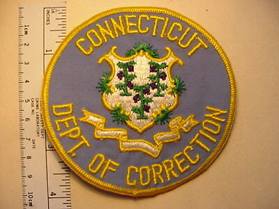 OLDER CONNECTICUT STATE DEPARTMENT OF CORRECTION BLUE PATCH