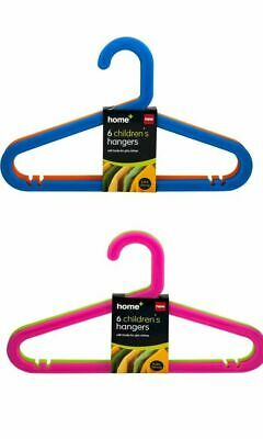 32 x Multicoloured Childrens Kids Baby Plastic Coat Clothes Trousers Hangers New