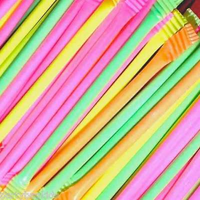 50 X Retro Sweets Rainbow Dust Sherbet Straws Party Bag Fillers Gift