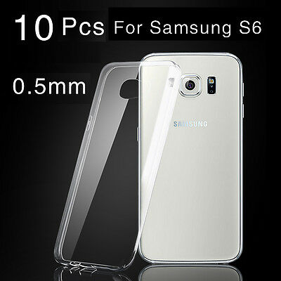 10 Pcs Samsung Galaxy S6 Case Ultra Thin Crystal TPU Clear Cover Skin Soft Cover