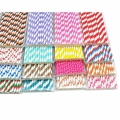 25pcs Disposible Colorful Paper Drinking Straws for Halloween party Baby Shower