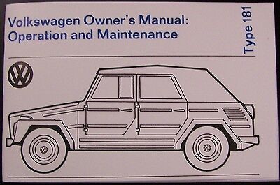1973 1974 VW Thing Type 181 Glove Box Owners Manual - New