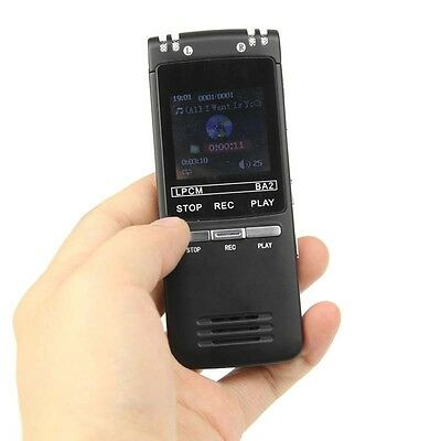 New Portable Rechargeable 8GB Digital Audio Voice Recorder Dictaphone MP3 Player