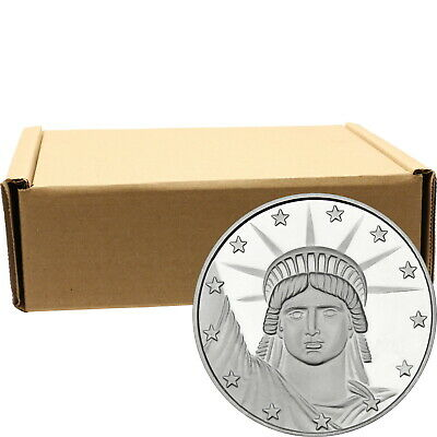 Silvertowne Lady Liberty 1 oz .999 Fine Silver Round - Monster Box of 500