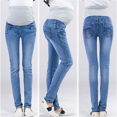 Over Bump Skinny Jeans Trousers Pants Stretch Slim Classic Comfy 8 10 12 14 16