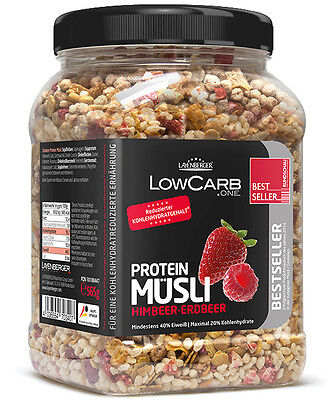 Low Carb Protein Muesli Strawberry & Raspberry 565 g, High Fibre