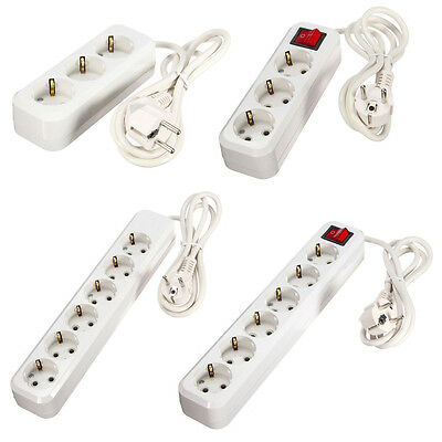 3-6 Way Outlet Powerboard Extension Cable Wall Socket Strip Power Board +Switch