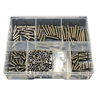 2 Kits of 270pces Button Socket Screw M5 Stainless Nut Washer Bolt G304 #262