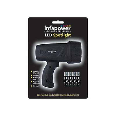 Infapower F017 Durable ABS LED Spotlight 300 Metre Beam Batteries Included - New