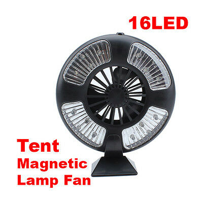 Portable Tent Ceiling Fan with 16 LED Flashlights Lamp Light For Camping Bivouac