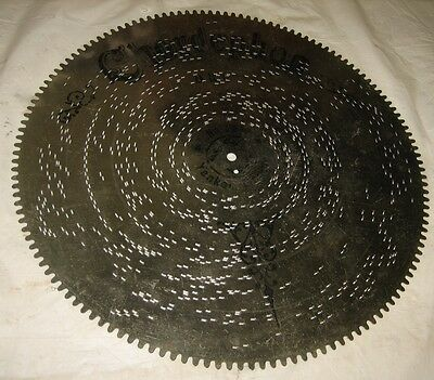 RARE ANTIQUE CHORDEPHON ZITHER MUSIC BOX DISC!