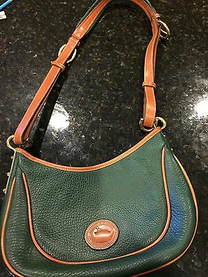 Dooney & Bourke AWL All Weather Leather Crescent / hobo bag GREEN