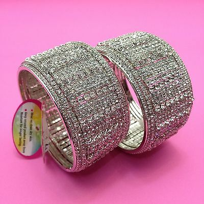 Indian Bridal/Party Wear Stone  Bangles Size:(2.4) (Set Of 2)