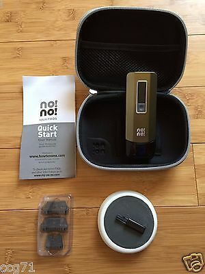 NEW NoNo Pro 5 Face Body Hair Removal Device + 3 Tips Case Buffer NO Box Charger
