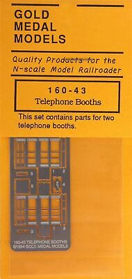 Gold Medal Models 160-43 - Telephone Booths (2)- N Scale