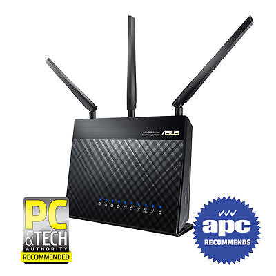 ASUS RT-AC68U Dual Band Wireless AC1900 Gigabit Router 2.4GHz / 5GHz 3Y Warranty