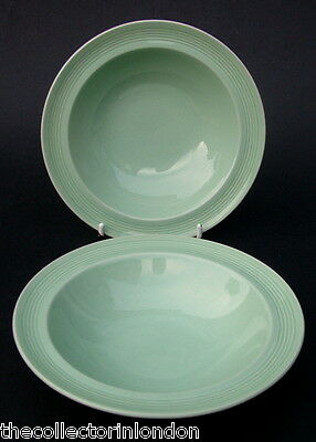Two Wood Woods & Sons Beryl Rimmed Fruit or Dessert Size Bowls 16.5cm in VGC