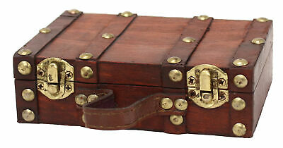 New Vintiquewise Antique Style Suitcase/Decorative Box, Small/Mini, QI003054