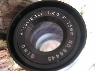 Anastigmet Photographic Enlarger Lens f75mm   1:4.5