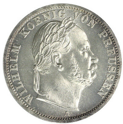 Germany-Prussia 1866-A PCGS MS65 Thaler *Rare Quality*