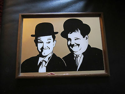 Retro Laurel And Hardy Bar Mirror..man Cave
