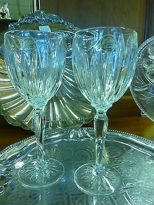 Cristal d'Arques Durand CLASSIC Water 2pc SET Goblets 24% Lead Crystal France