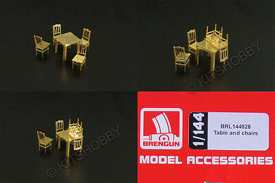 Brengun Models 1/144 Table and chairs (144028)