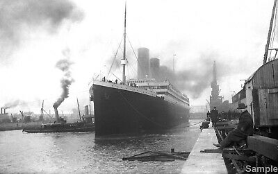 RMS Titanic White Star Line Ship Vintage Ocean Liner Travel Photo Print Picture