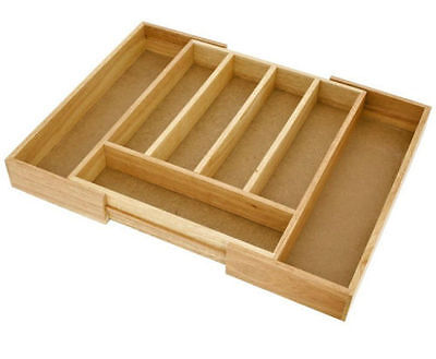 New Judge Wooden Extending Cutlery Drawer Tray / Insert Tidy - TC258