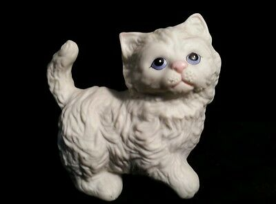 HOMECO Persian Kitten Figurine Blue Eyes 3""