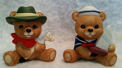 Homco Ceramic Figurine Sailor Cowboy Bear  #1417