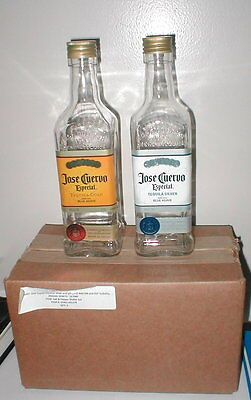 BRAND NEW Jose Cuervo Silver & Gold Tequila Large Salt & Pepper Shakers