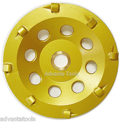 "5"" Quarter Round PCD Grinding Cup Wheel 8 Segments - 7/8""-5/8"" Arbor"