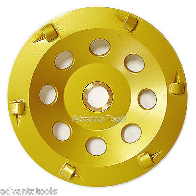 "5"" Quarter Round PCD Grinding Cup Wheel 6 Segments - 7/8""-5/8"" Arbor"