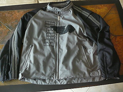 Buell Men's Black & Silver Motorcycle Racing Riding Jacket 3XL