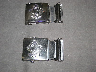 Life Saving Guards 2 different Belt Buckles, Salvation Army merged with BSA   es