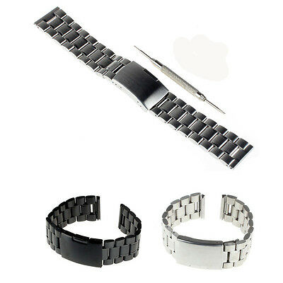 22mm Stainless Chains  Metal Watch Band + Tools  for LG G watch R W110  W100