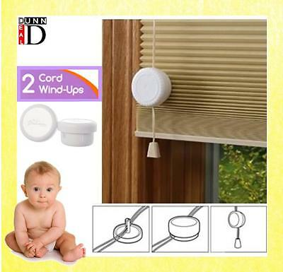 Roller Blind Cord Safety Connector Child Proof Wind-ups Clips White (Pack of 2)