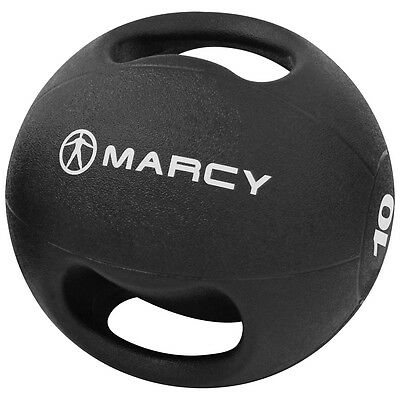 Marcy Double Handle Rubber Medicine Ball 3-10kg Strength Training Gym Workout