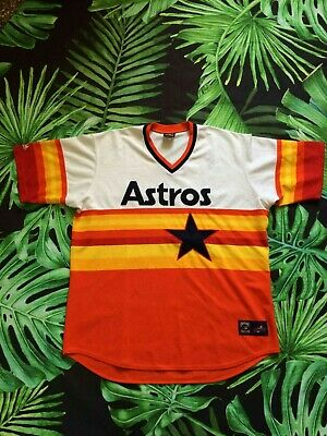 ASTROS HOUSTON Jersey Maillot Vintage Majestic Cooperstown Colection Baseball 3X