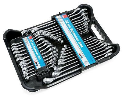 Hilka 32 Piece Spanner Set In Case Stubby & Ring Spanners Metric + Af Polished