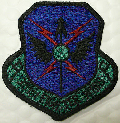 Usaf Air Force 301St Fighter Wing Patch Subdued