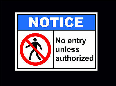 No Entry Without Permission Sign Choice Of Sign Or Sticker 5 Sizes No Access