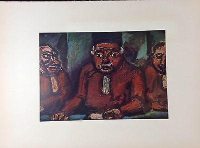 """MARY/"""" GAUGUIN NUDE Lithograph 1954 Vintage Full Color Art Plate /""""WE GREET THEE"""