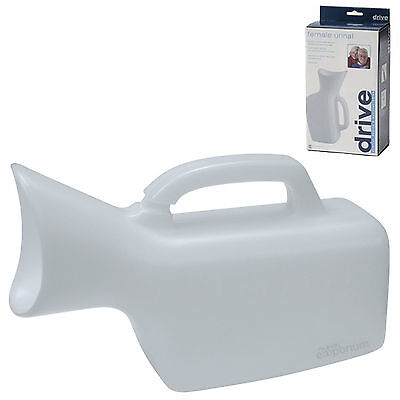 Female Urine/Urinal Bottle. Toilet Incontinence Aid. Portable with Handle