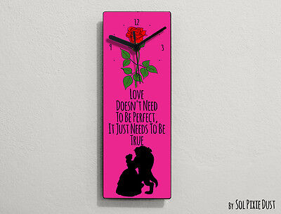 Beauty and the Beast -Love Doesn't Need To Be Perfect, It Just ...- Wall Clock