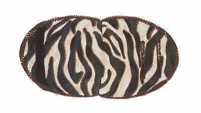 Medical Eye Patch For Glasses, BROWN ZEBRA soft and washable