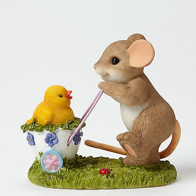 Charming Tails Taking a Stroll with My Cute Chick Mouse Figure 4043857 Easter