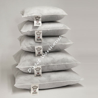 """Hollowfibre Cushion Pads Inserts Fillers Inners 12"""" 14"""" 16"""" 18"""" 20"""" 22"""" 24"""" 26"""""""