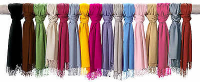 Trendy Highest Quality Scarf Plain 100% Viscose Pashmina Scarves Wrap Stole :)